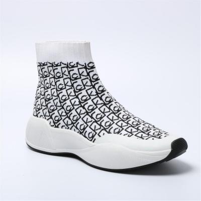 Adidasi sport Calvin Klein Beaudan Kknit alb negru