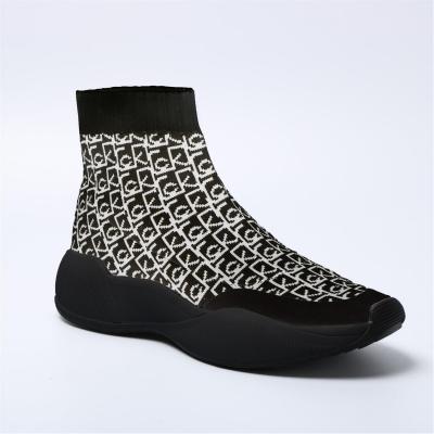 Adidasi sport Calvin Klein Beaudan Kknit negru alb