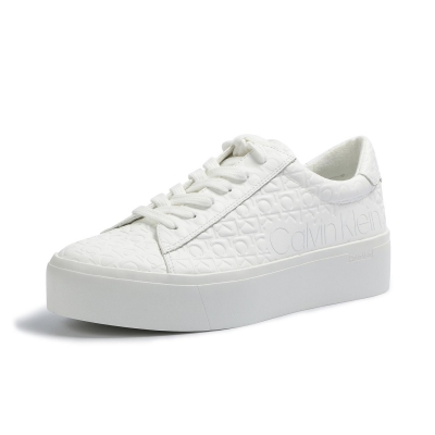 Adidasi sport Calvin Klein Janika Eco Low Top alb