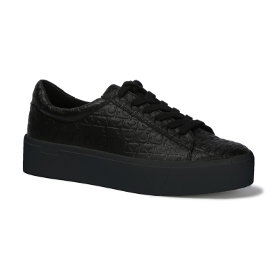 Adidasi sport Calvin Klein Janika Eco Low Top negru