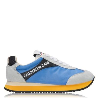 Adidasi sport Calvin Klein Jeans Jerrold Low Top argintiu albastru