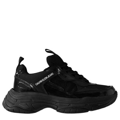 Adidasi sport Calvin Klein Jeans Maya Mono negru patent