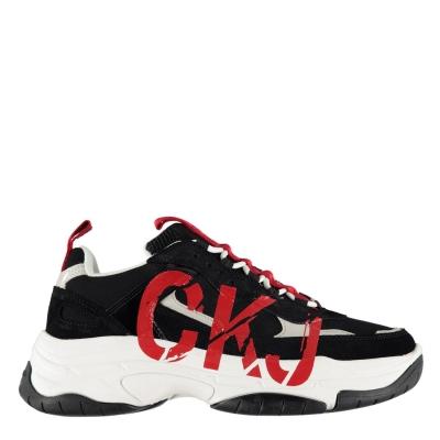 Adidasi sport Calvin Klein Jeans Mizar negru maro deschis