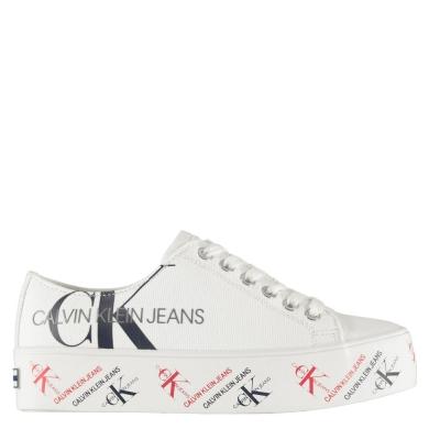 Adidasi sport Calvin Klein Jeans Zamira Flatform bright alb