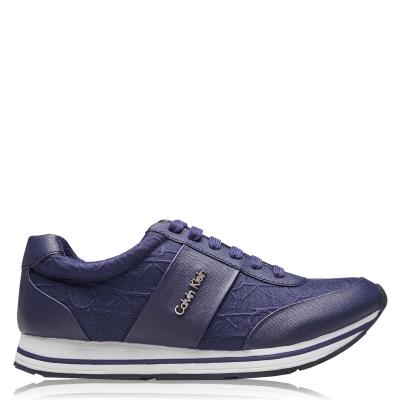 Adidasi sport Calvin Klein Reed CK Logo inchis bleumarin