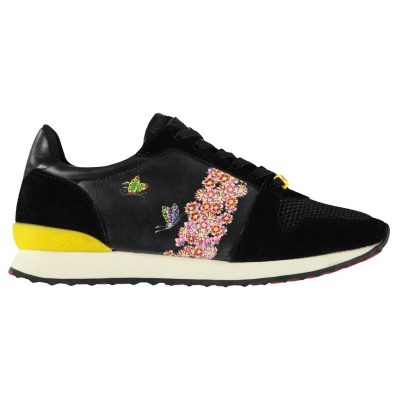 Adidasi sport Ed Hardy Blossom Runner negru