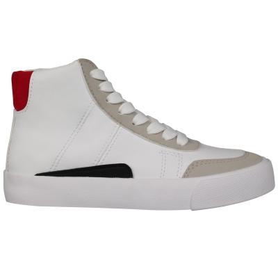 Adidasi sport Fabric Cavour pentru Copii alb rosu