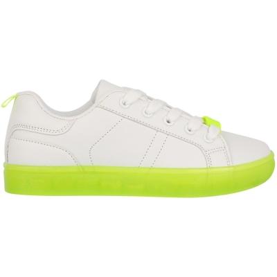 Adidasi sport Fabric Low pentru Copii alb fosforescent