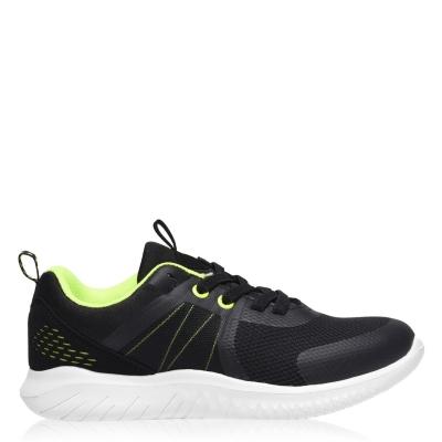 Adidasi sport Fabric Parma baieti negru verde lime