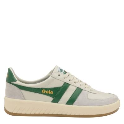 Adidasi sport Gola Grandslam 78 pentru Barbati alb verde gum