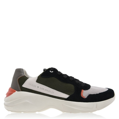 Adidasi sport Guess Viterbo verde negru