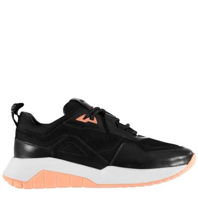 Adidasi sport Hugo Atom Run din piele plasa negru