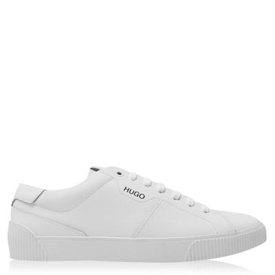 Adidasi sport Hugo Hugo Zero Smooth din piele alb