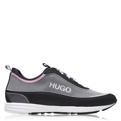 Adidasi sport Hugo Hybrid Run negru roz