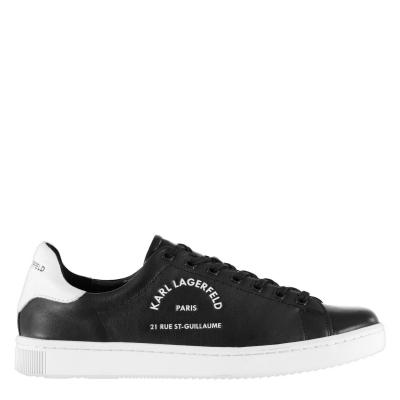 Adidasi sport Karl Lagerfeld Kourt Maison negru piele