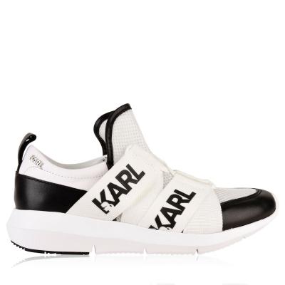 Adidasi sport Karl Lagerfeld Runner alb negru