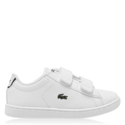 Adidasi sport Lacoste Carnaby BL1 pentru Bebelusi alb bleumarin