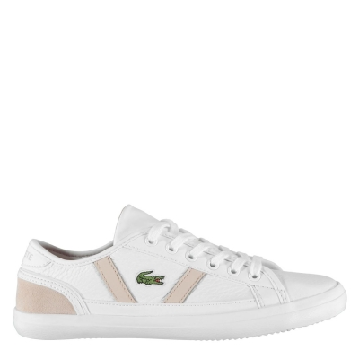 Adidasi sport Lacoste Sideline alb natural