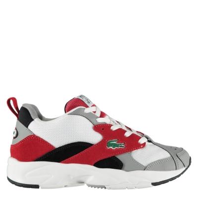 Adidasi sport Lacoste Storm 96 gri rosu
