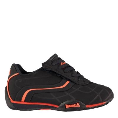Adidasi sport Lonsdale Camden pentru Bebelusi bleumarin portocaliu