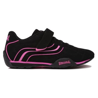 Adidasi sport Lonsdale Camden pentru Copii negru rosu