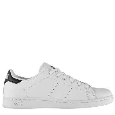 Adidasi sport Lonsdale Leyton din piele pentru Barbati alb negru