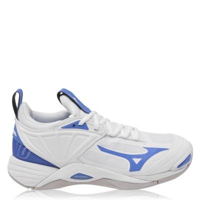 Adidasi sport Mizuno Wave Momentum 2 Netball alb ultramari