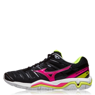 Adidasi sport Mizuno Wave Stealth 4 Netball negru