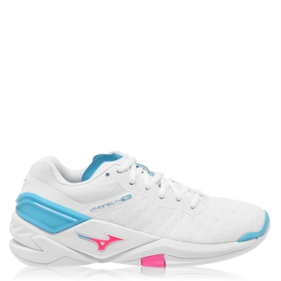 Adidasi sport Mizuno Wave Stealth Neo Netball alb roz