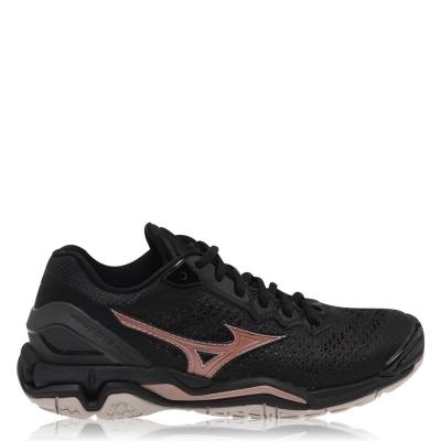 Adidasi sport Mizuno Wave Stealth V Netball pentru Femei negru roz auriu