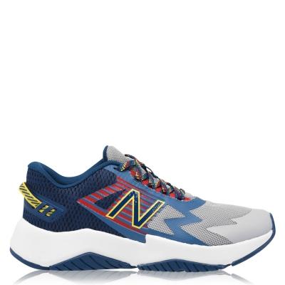 Adidasi sport New Balance Rav Run pentru copii gri albastru galben