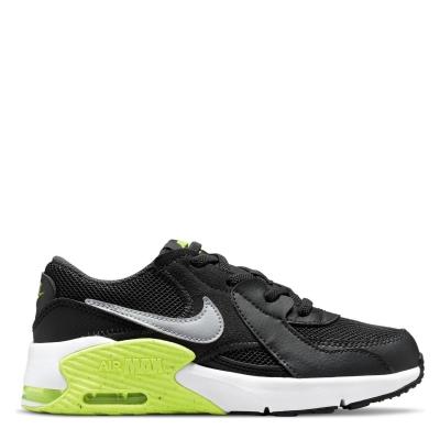 Adidasi sport Nike Air Max Excee pentru baieti gri inchis galben