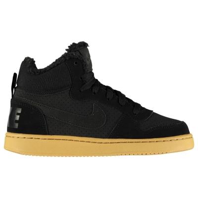 Adidasi sport Nike Court Boro iarna Mid Top pentru baietei negru gum