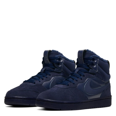 Adidasi sport Nike Court Borough iarna pentru baietei albastru inchis