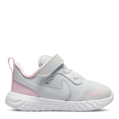 Adidasi sport Nike Revolution 5 pentru fete pentru Bebelusi gri alb roz