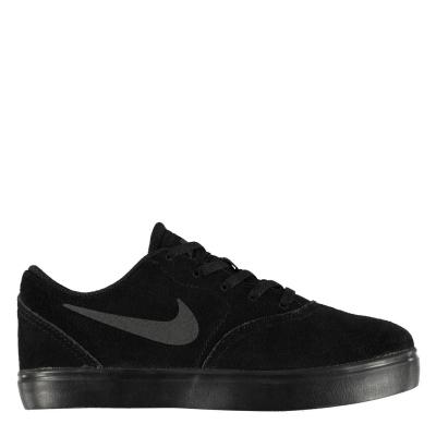 Adidasi sport Nike SB Check Suede pentru baietei triple negru