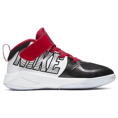 Adidasi sport Nike Team Hustle D9 baieti negru argintiu alb