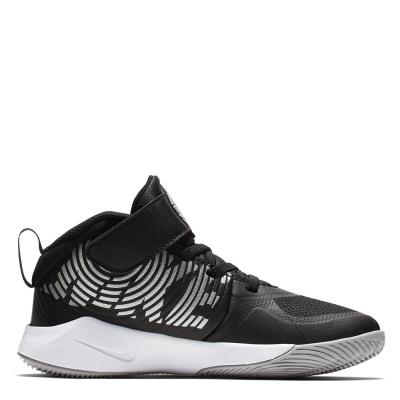Adidasi sport Nike Team Hustle D9 baieti negru argintiu