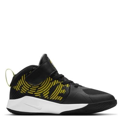 Adidasi sport Nike Team Hustle D9 baieti negru galben