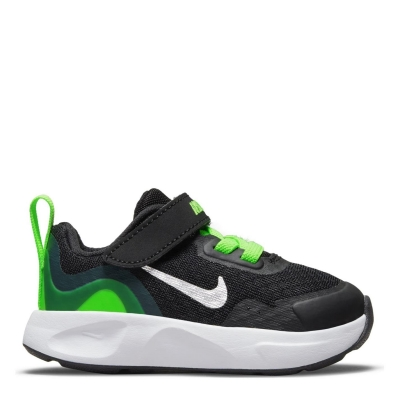 Adidasi sport Nike Wear All Day pentru Bebelusi negru argintiu verde