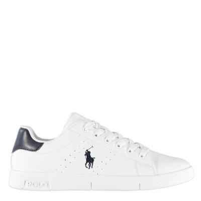 Adidasi sport Polo Ralph Lauren Bilton Lace Juniors alb bleumarin