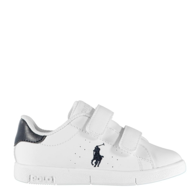 Adidasi sport Polo Ralph Lauren Bilton pentru Copii alb bleumarin