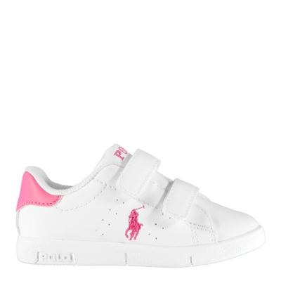 Adidasi sport Polo Ralph Lauren Bilton pentru Copii alb roz fucsia