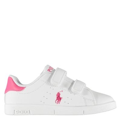 Adidasi sport Polo Ralph Lauren Bilton Touch Fastening pentru Bebelusi alb roz fucsia
