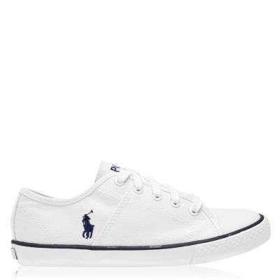 Adidasi sport Polo Ralph Lauren Dyland Lace Juniors alb bleumarin