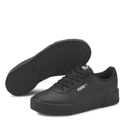 Adidasi sport Puma Carina din piele pentru fetite negru