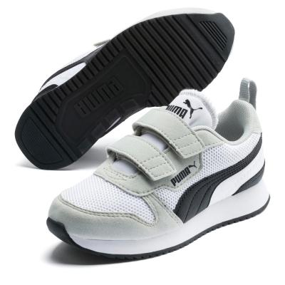 Adidasi sport Puma R78 Runner baieti alb negru