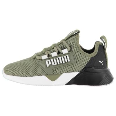 Adidasi sport Puma Retaliate baieti verde alb