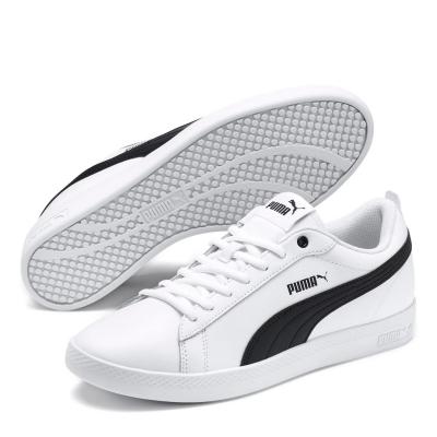Adidasi sport Puma Smash din piele pentru Femei alb negru