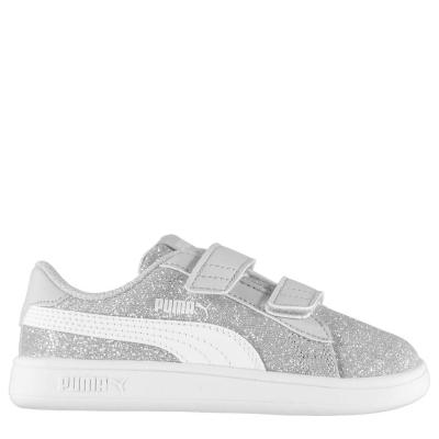 Adidasi sport Puma Smash Glitz pentru fete pentru Bebelusi argintiu